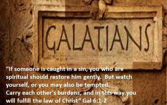 1 1 1 1 Galatians 6 1 2